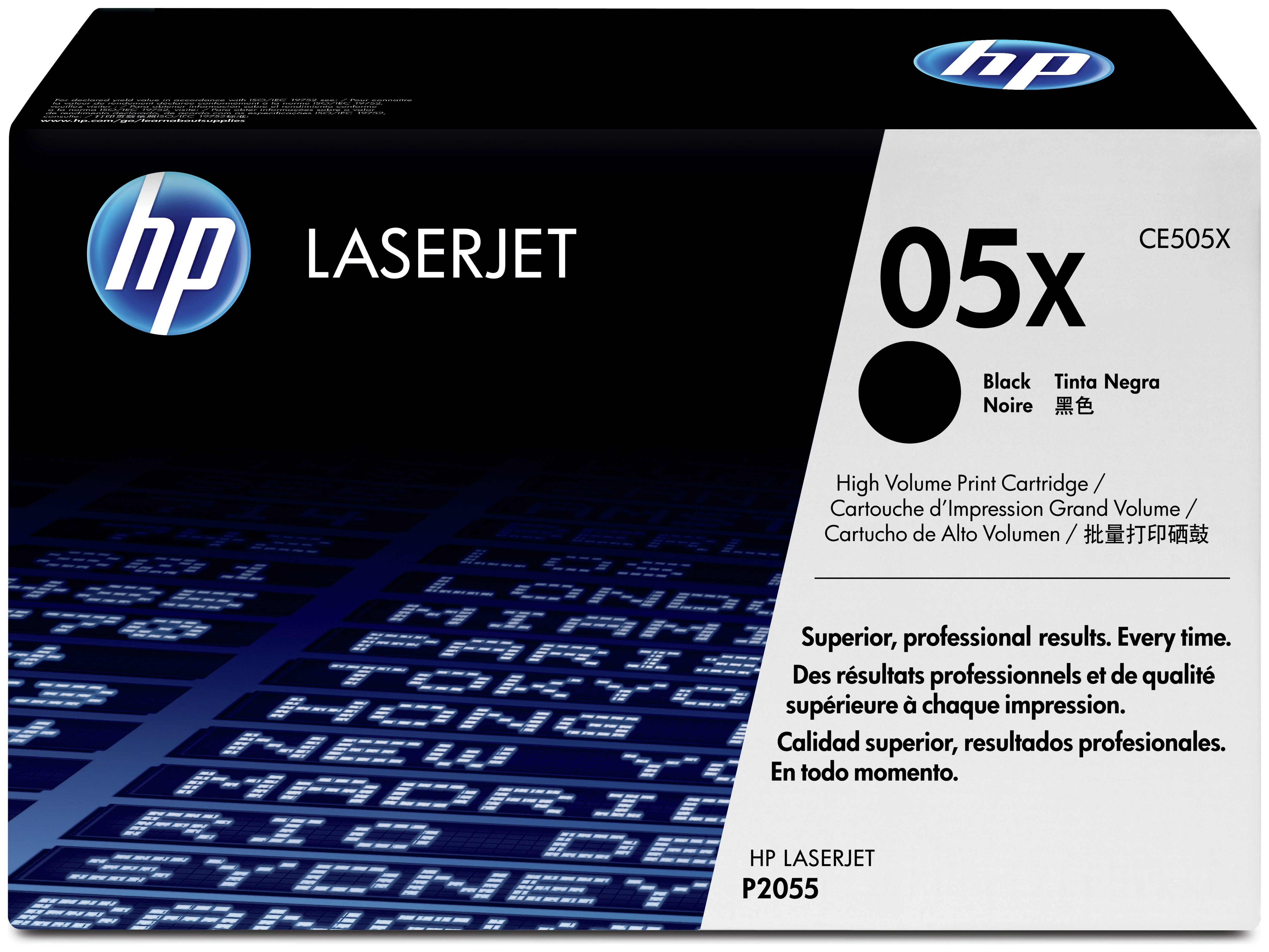 Image of HP - 05X High Yield Black LaserJet - Toner (CE505X)