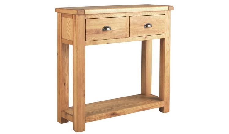 Miraculous Buy Argos Home Kent Oak Oak Veneer 2 Drawer Console Table Console Tables Argos Download Free Architecture Designs Scobabritishbridgeorg