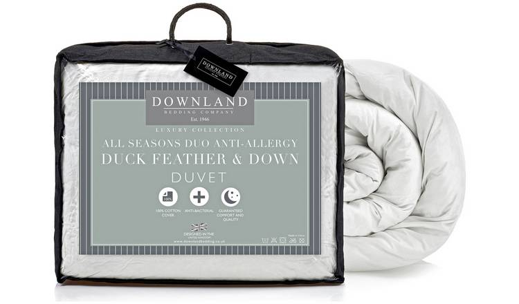 Downland Duck Feather Down All Seasons 15 Tog Duvet S.King
