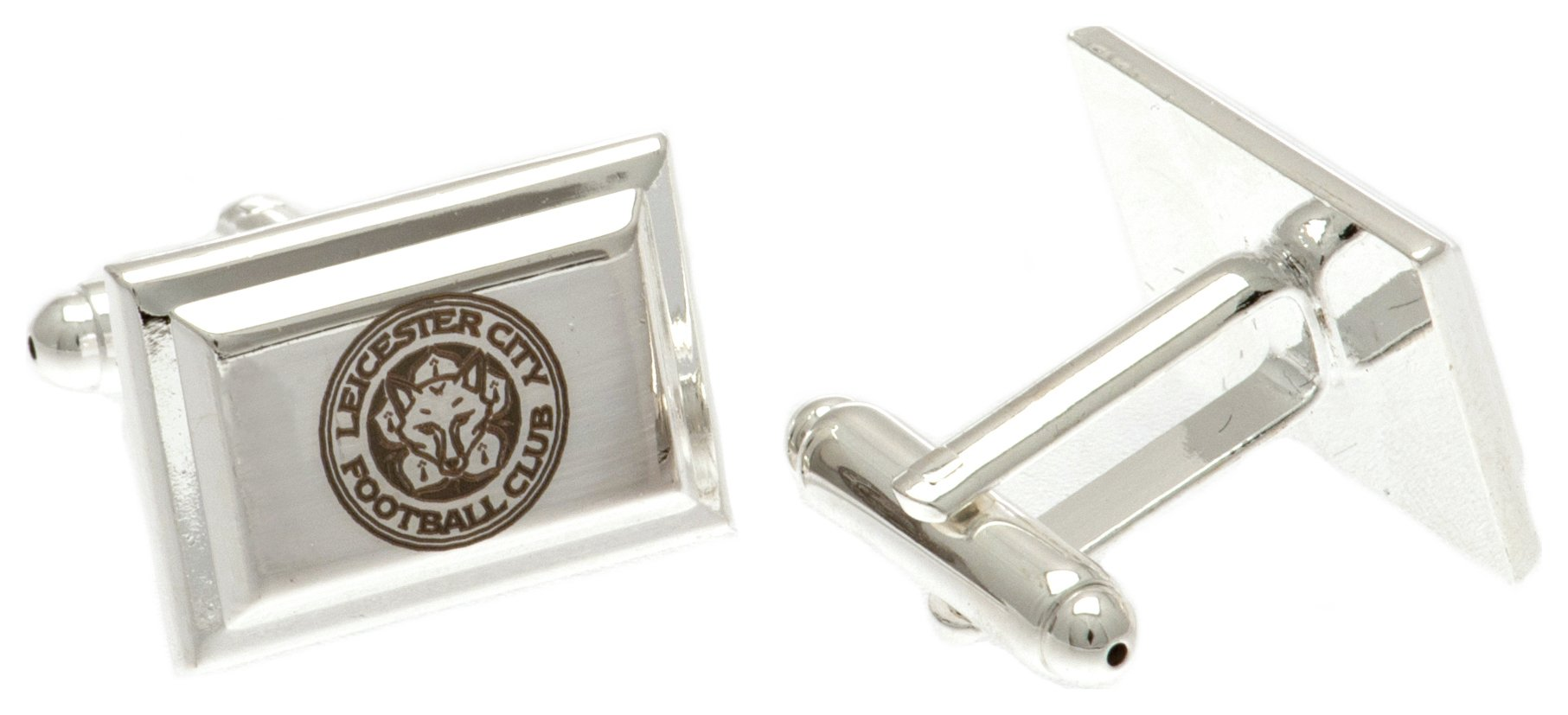 Leicester City - Crest - Silver Plated- Cufflinks