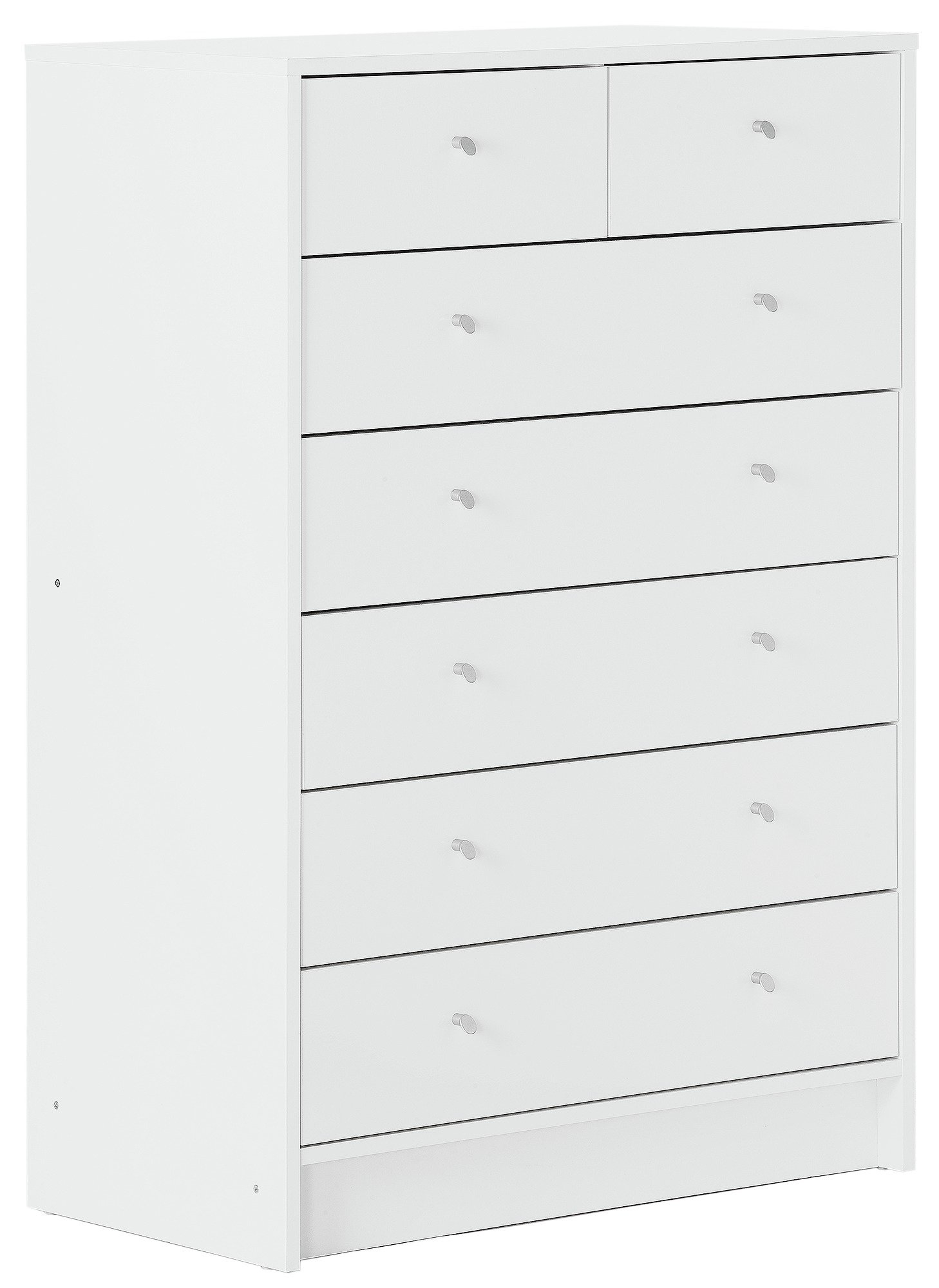 HOME Kids New Malibu 5 + 2 Chest of Drawers - Gloss White