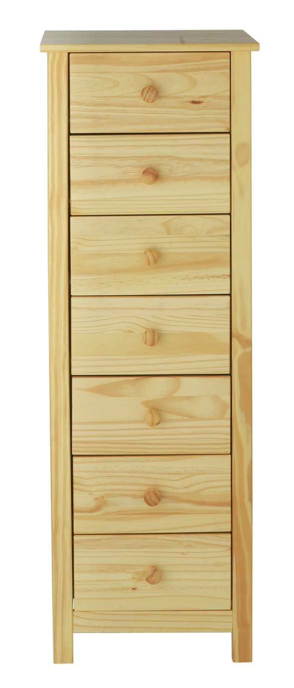 Buy Argos Home New Scandinavia 7 Drawer Narrow Chest Pine Chest