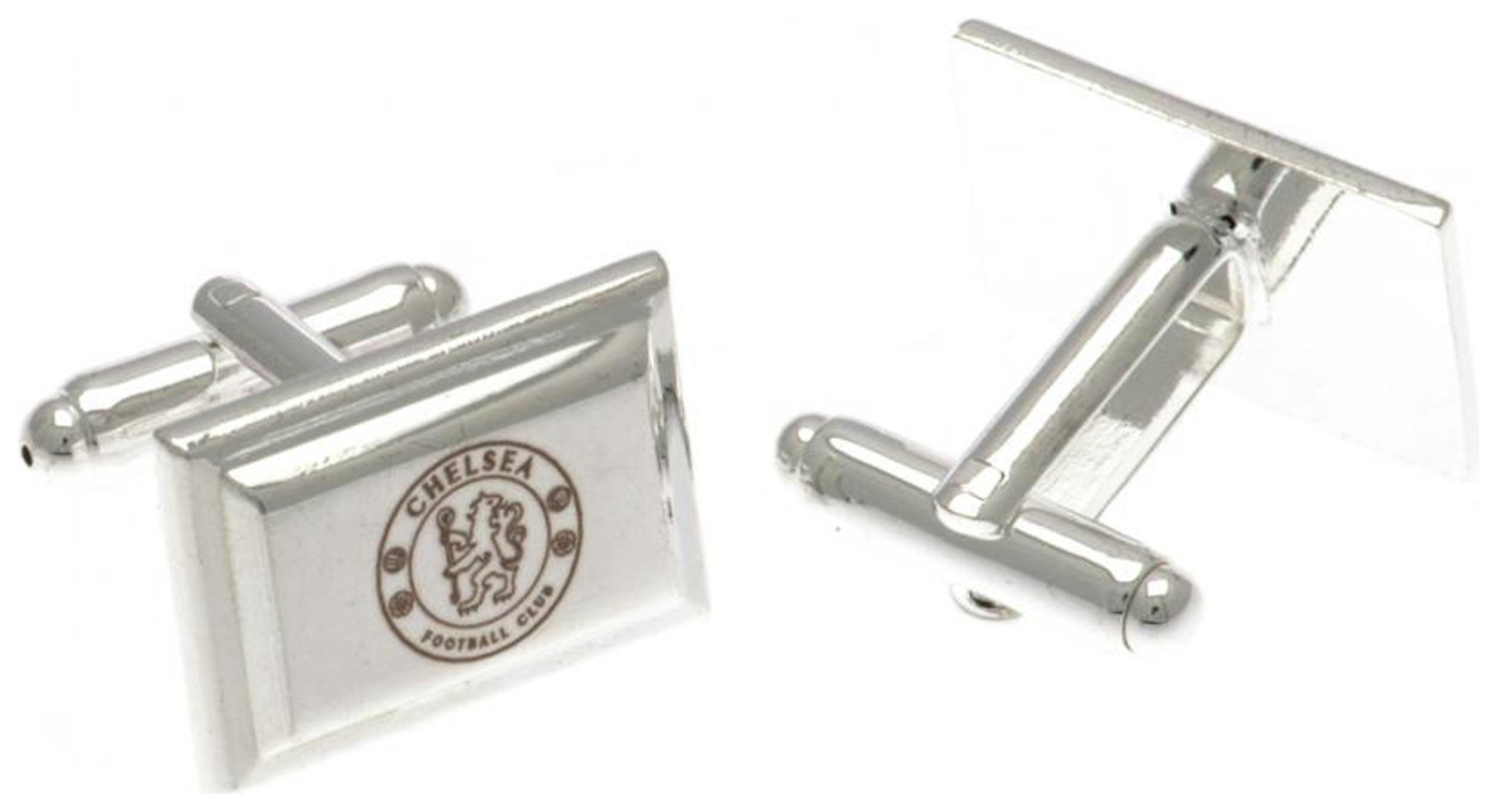 Image of Silver Plated Chelsea FC Crest Cufflinks