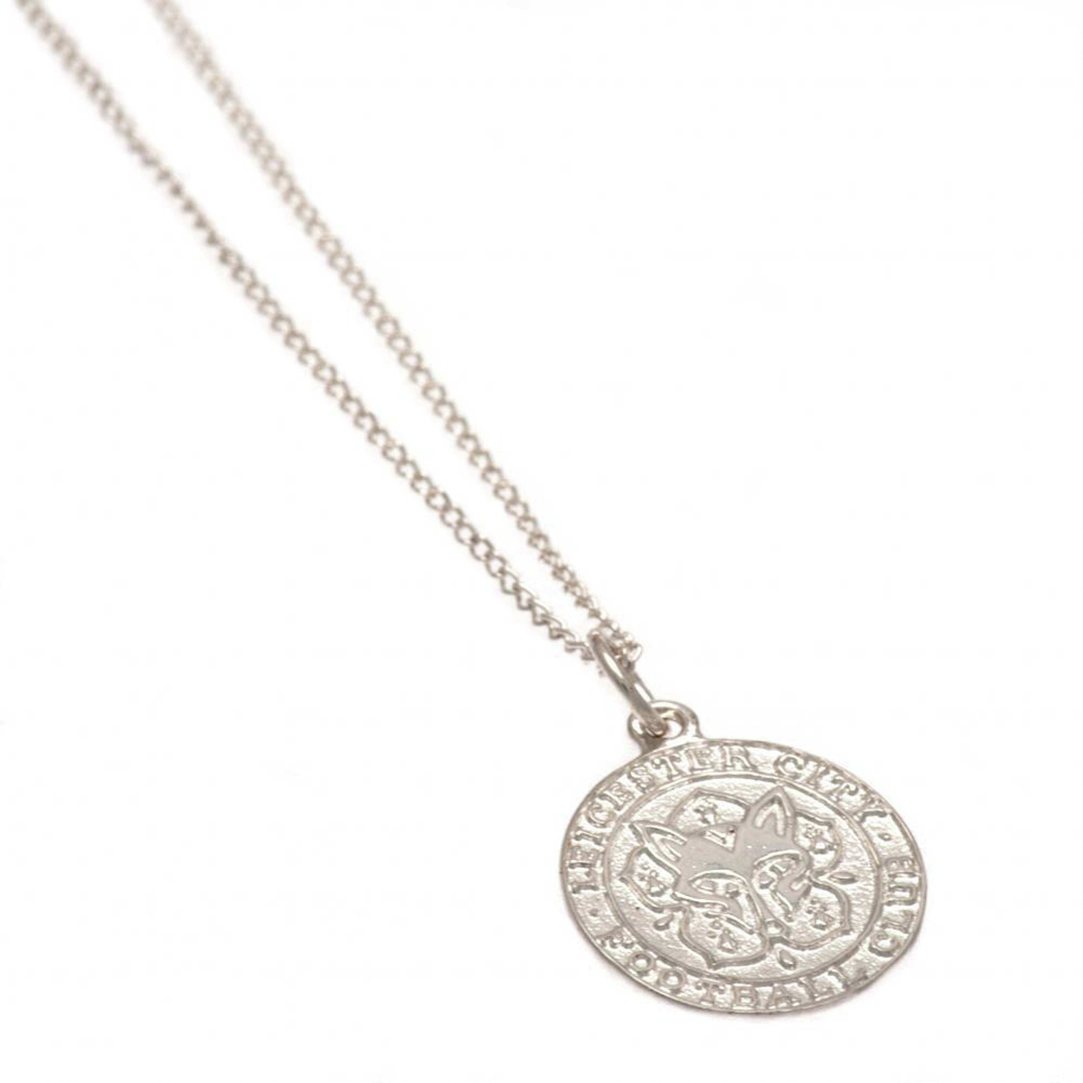 Sterling Silver Leicester City Crest Pendant