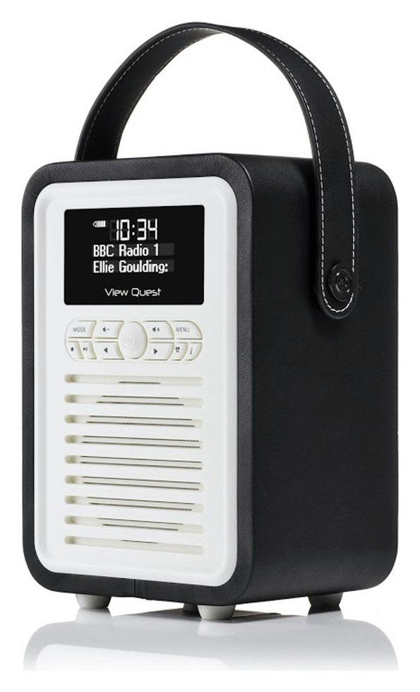 VQ VQ - Retro Mini DAB Radio - Black