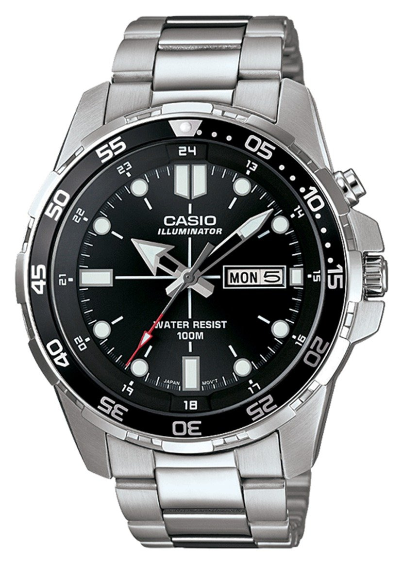 Casio Men's Stainless Steel Rotating Bezel Backlight Watch review
