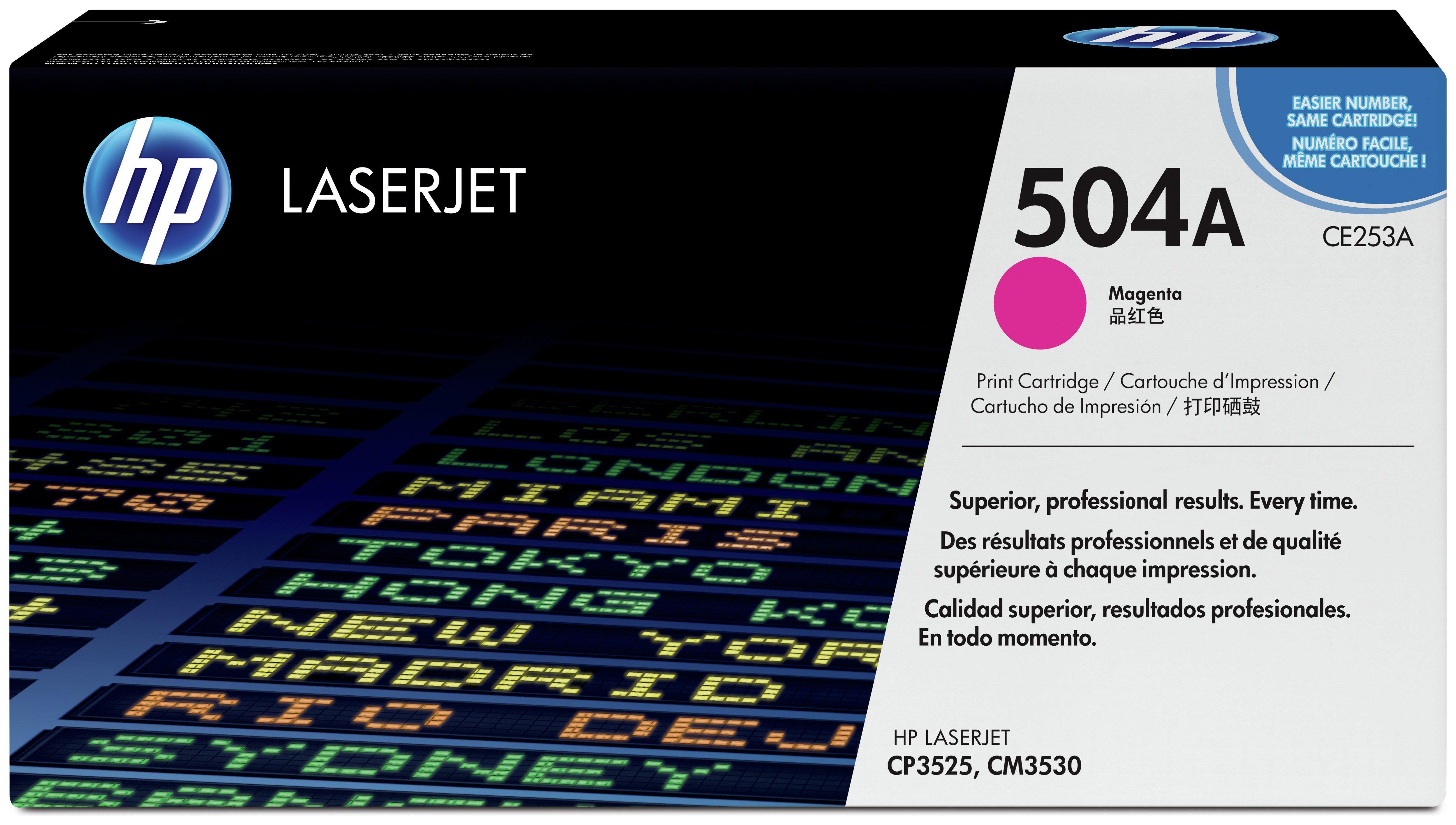 HP - 504A Magenta LaserJet - Toner Cartridge (CE253A)