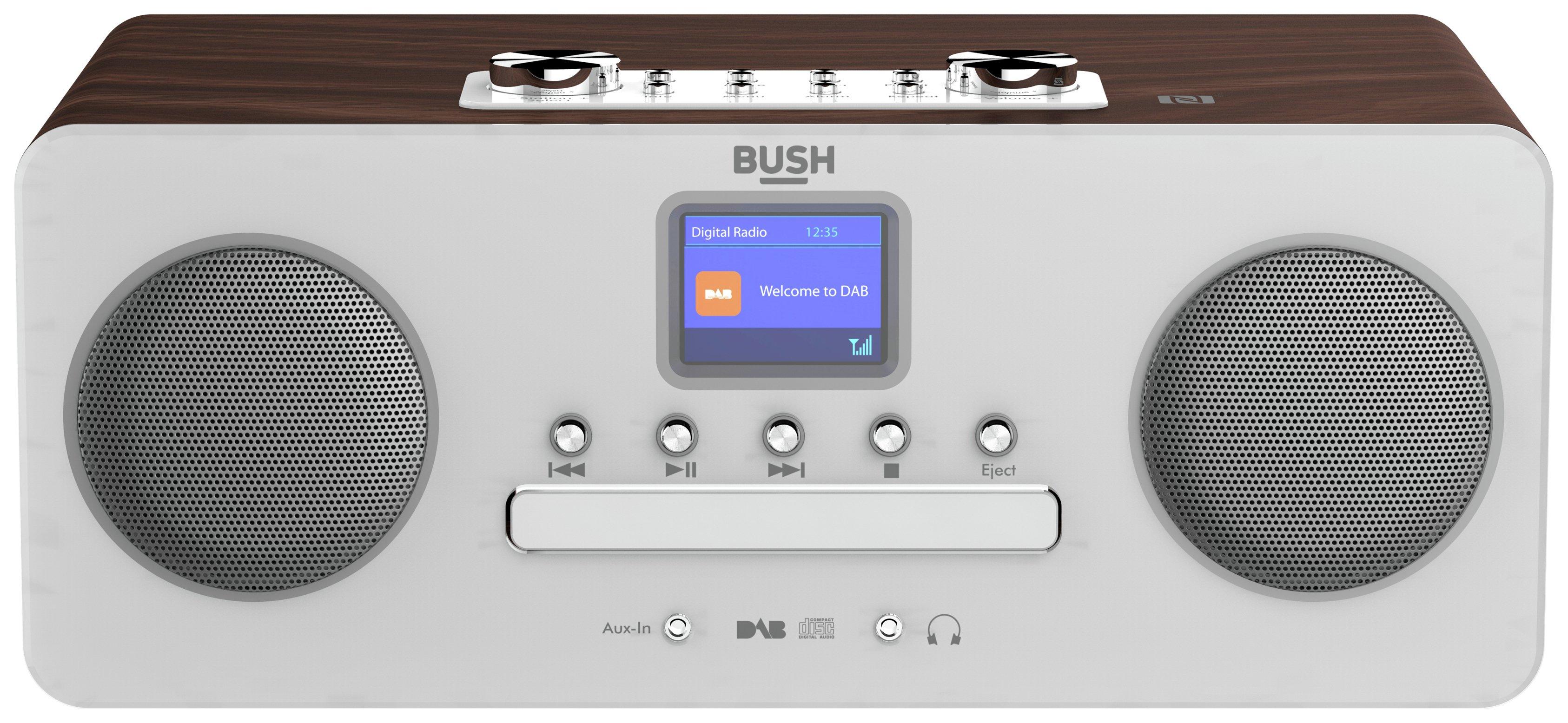 Bush - Bluetooth DAB All In One Micro Hifi System - Black/Silver