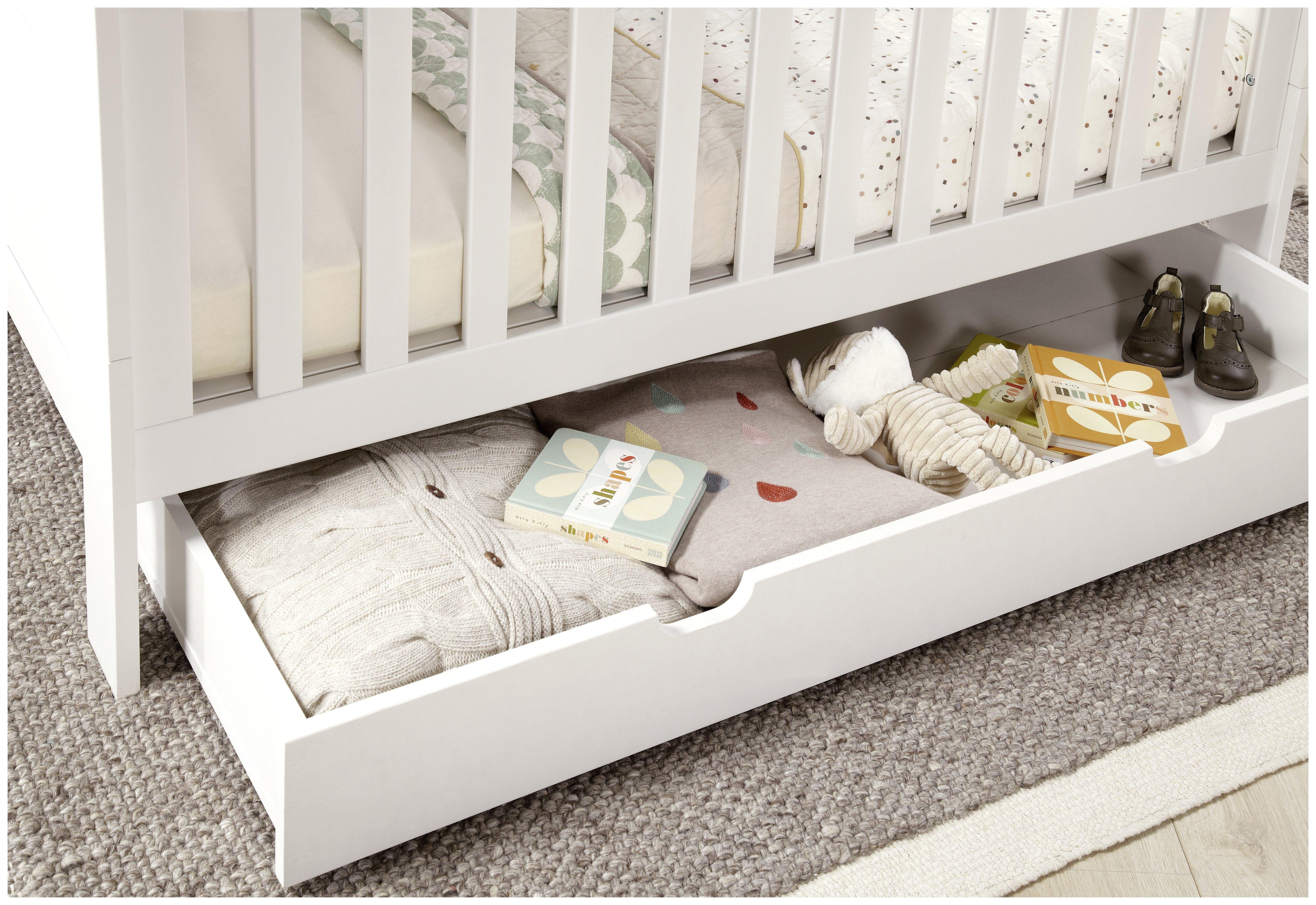 Mamas & Papas Harrow Furniture Underbed Storage Unit - White