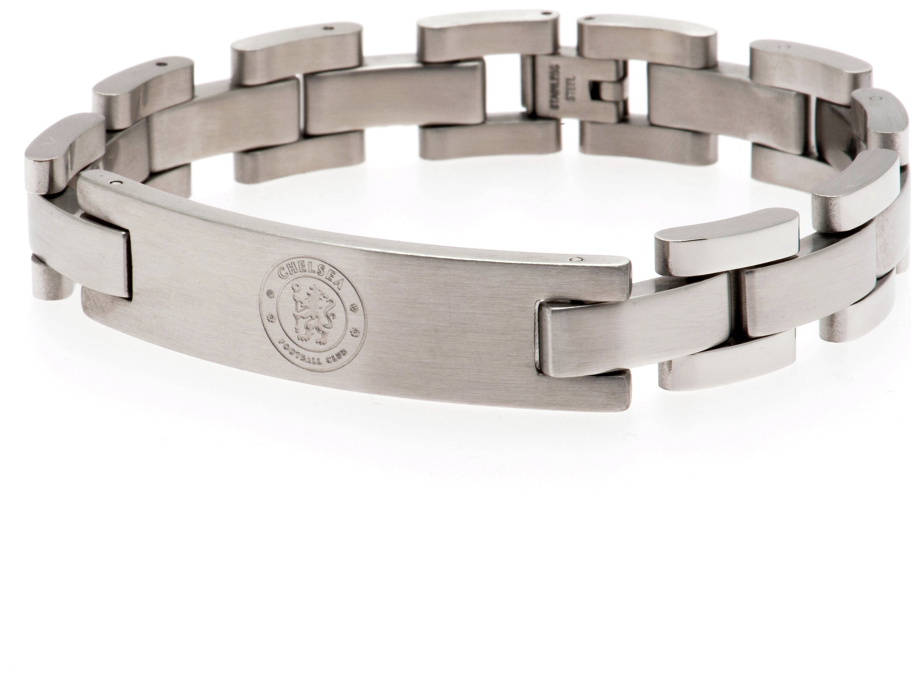 Image of Chelsea FC - Crest - Stainless Steel and Leather - Bracelet