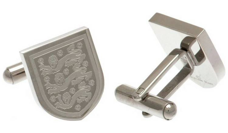 Stainless Steel England FA Crest Cufflinks.