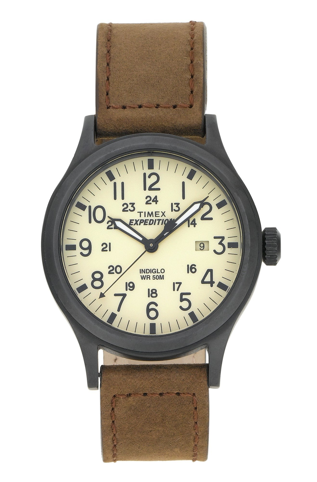 'Timex Men's Expedition Scout Brown Strap Watch 40mm