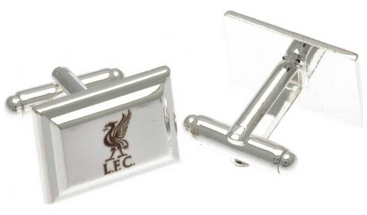 Silver Plated Liverpool FC Crest Cufflinks.