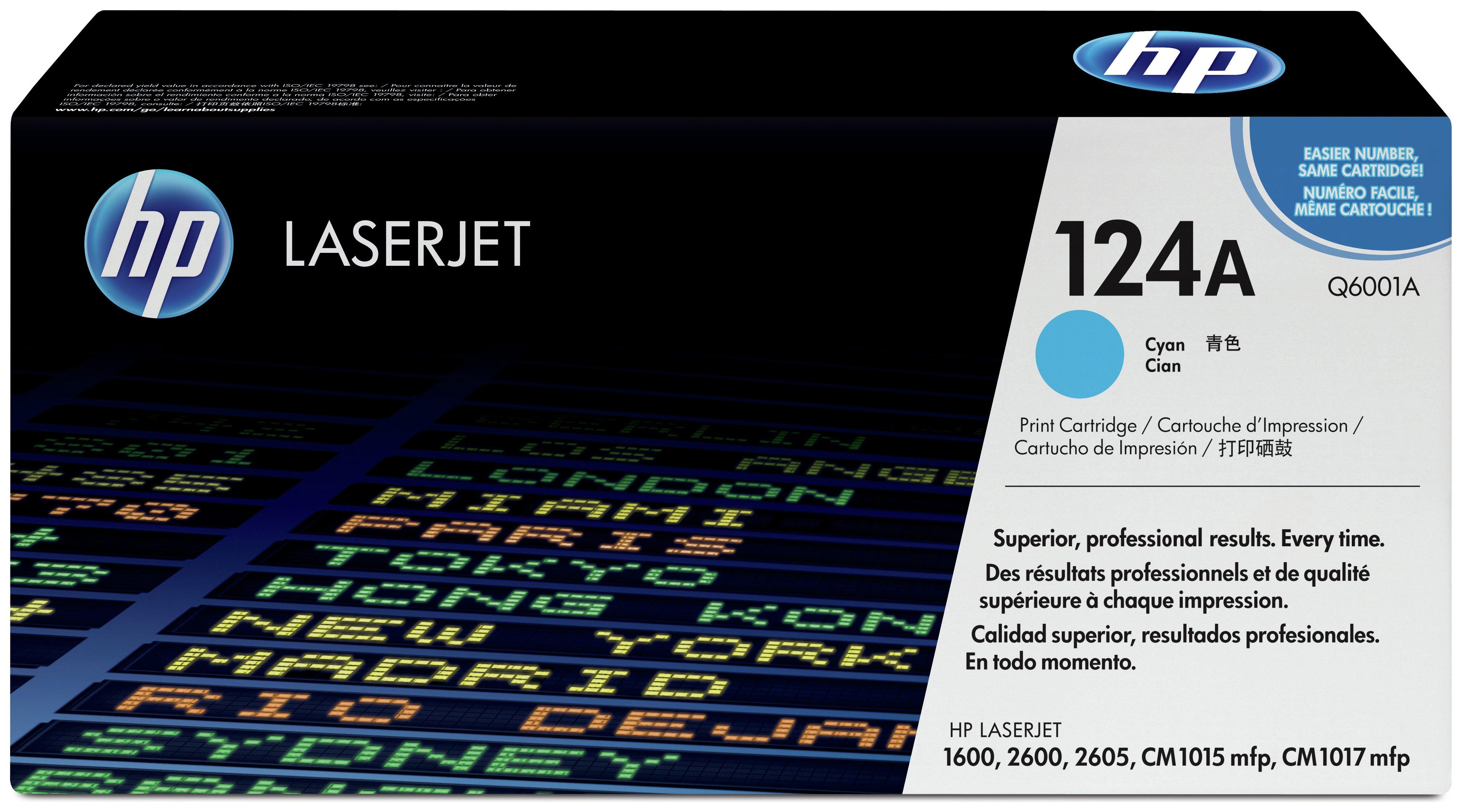 HP - 124A Cyan LaserJet - Toner Cartridge (Q6001A)