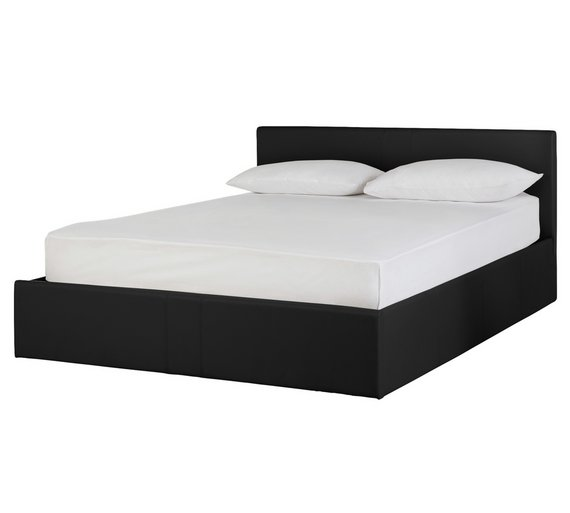 Buy Hygena Chapton Small Double Ottoman Bed Frame - Black | Bed ...