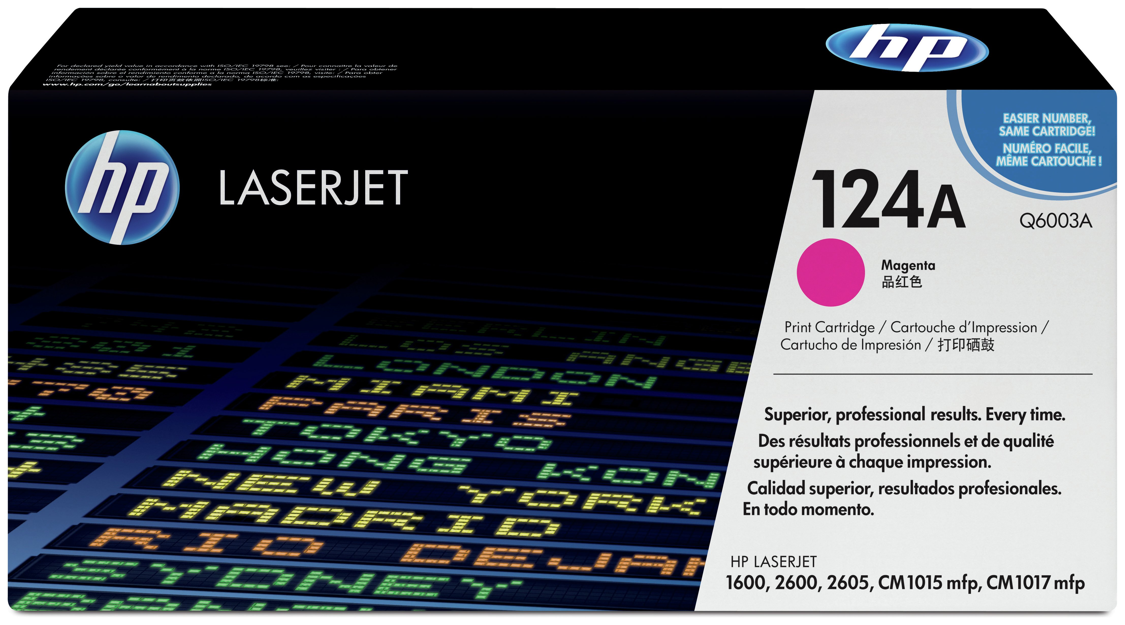 Image of HP - 124A Magenta LaserJet - Toner Cartridge (Q6003A)