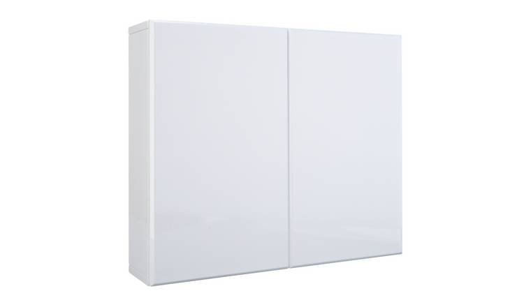 Argos Home Gloss Double Wall Cabinet - White