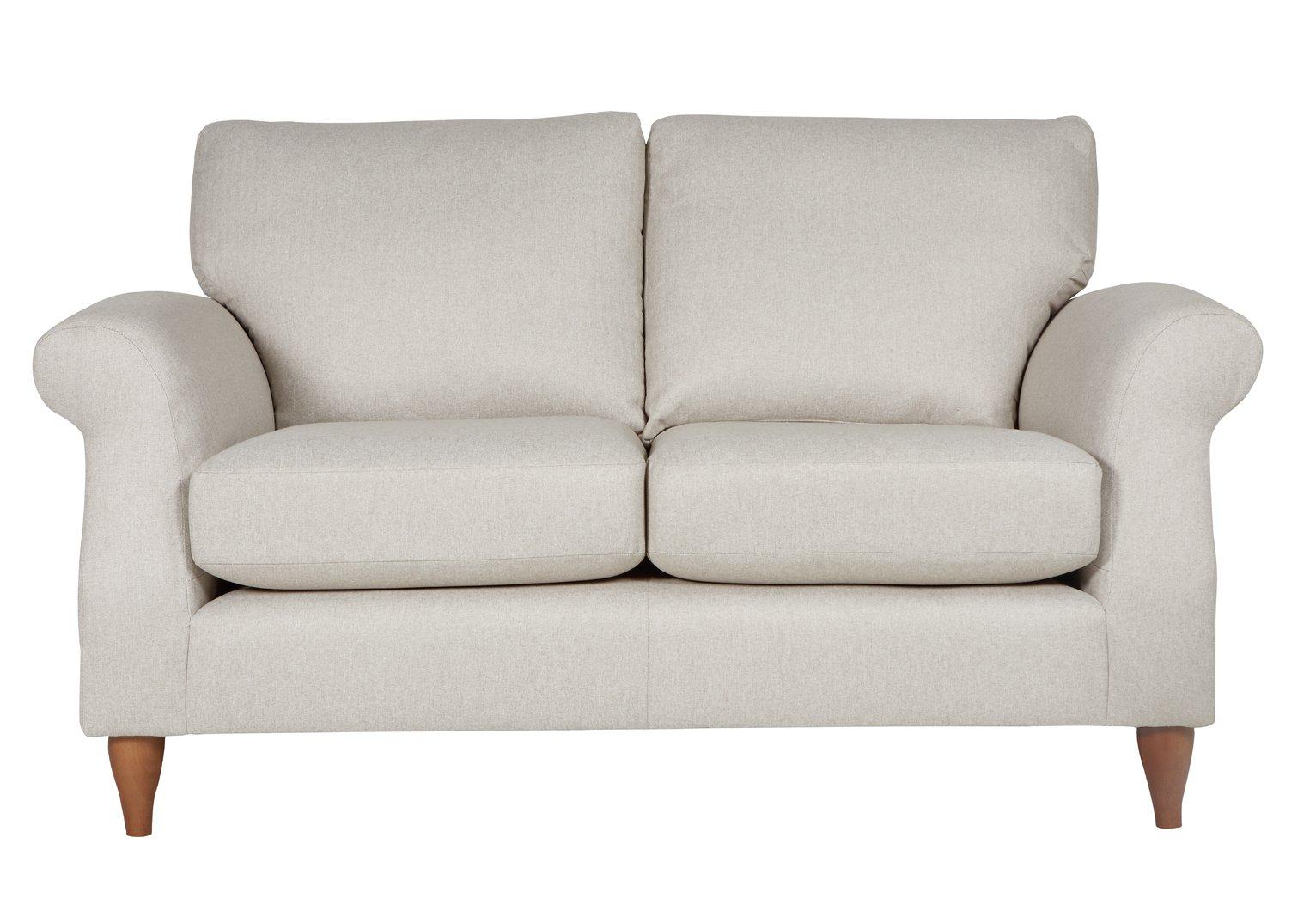 Argos Home Bude 2 Seater Fabric Sofa - Cream