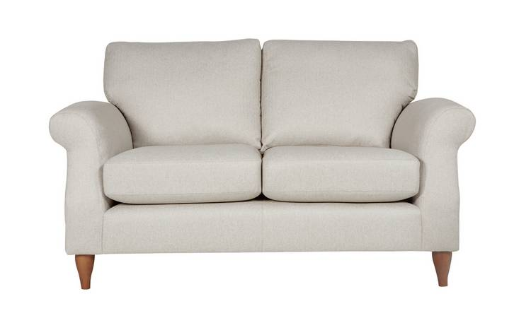 Argos Home Bude 2 Seater Fabric Sofa - Cream