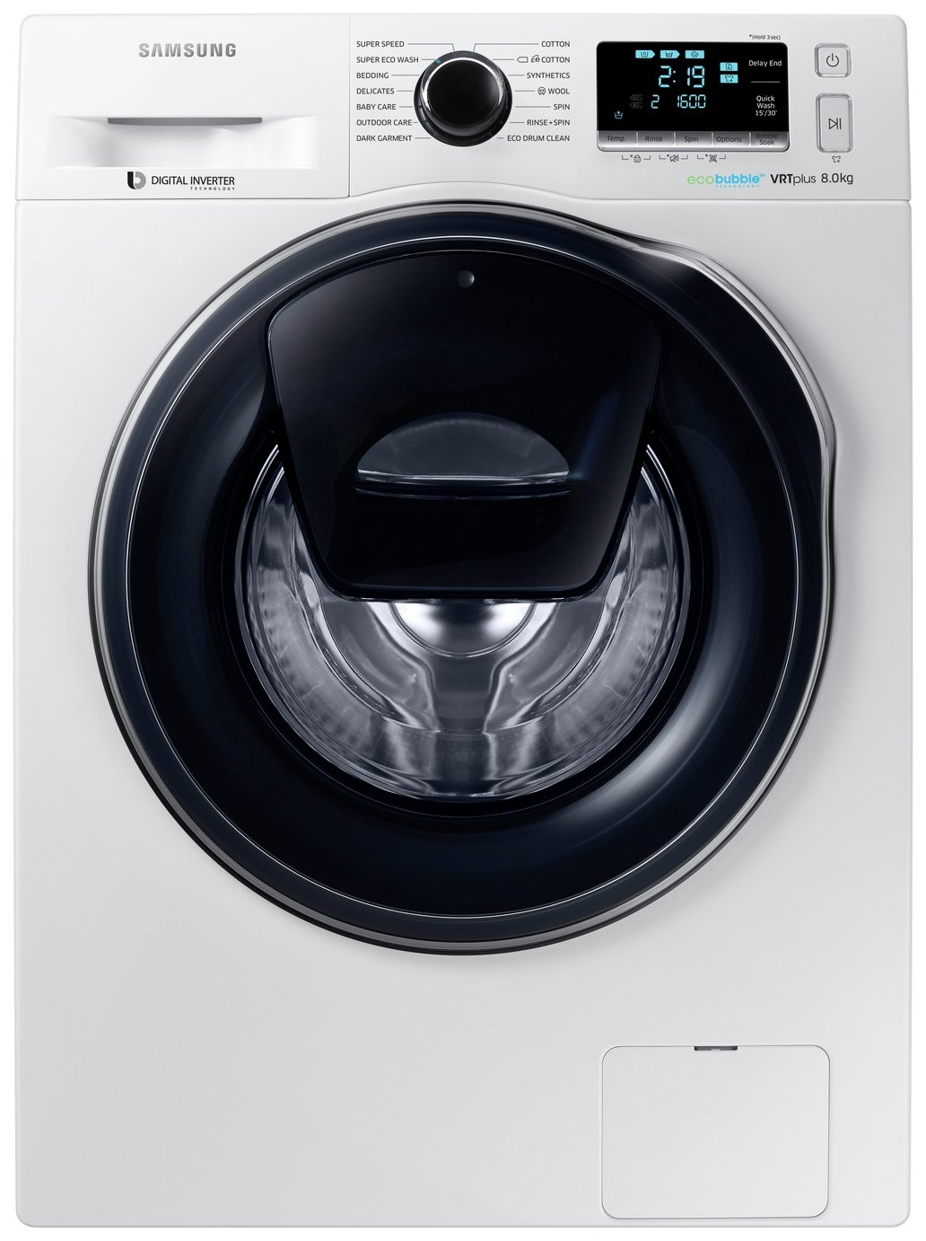 Image of Samsung AddWash WW80K6610QW 8Kg 1600 Spin Washing Machine Del/Ins/Rec