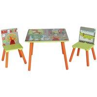 Liberty House Safari Nursery Table and 2 Chairs Set.