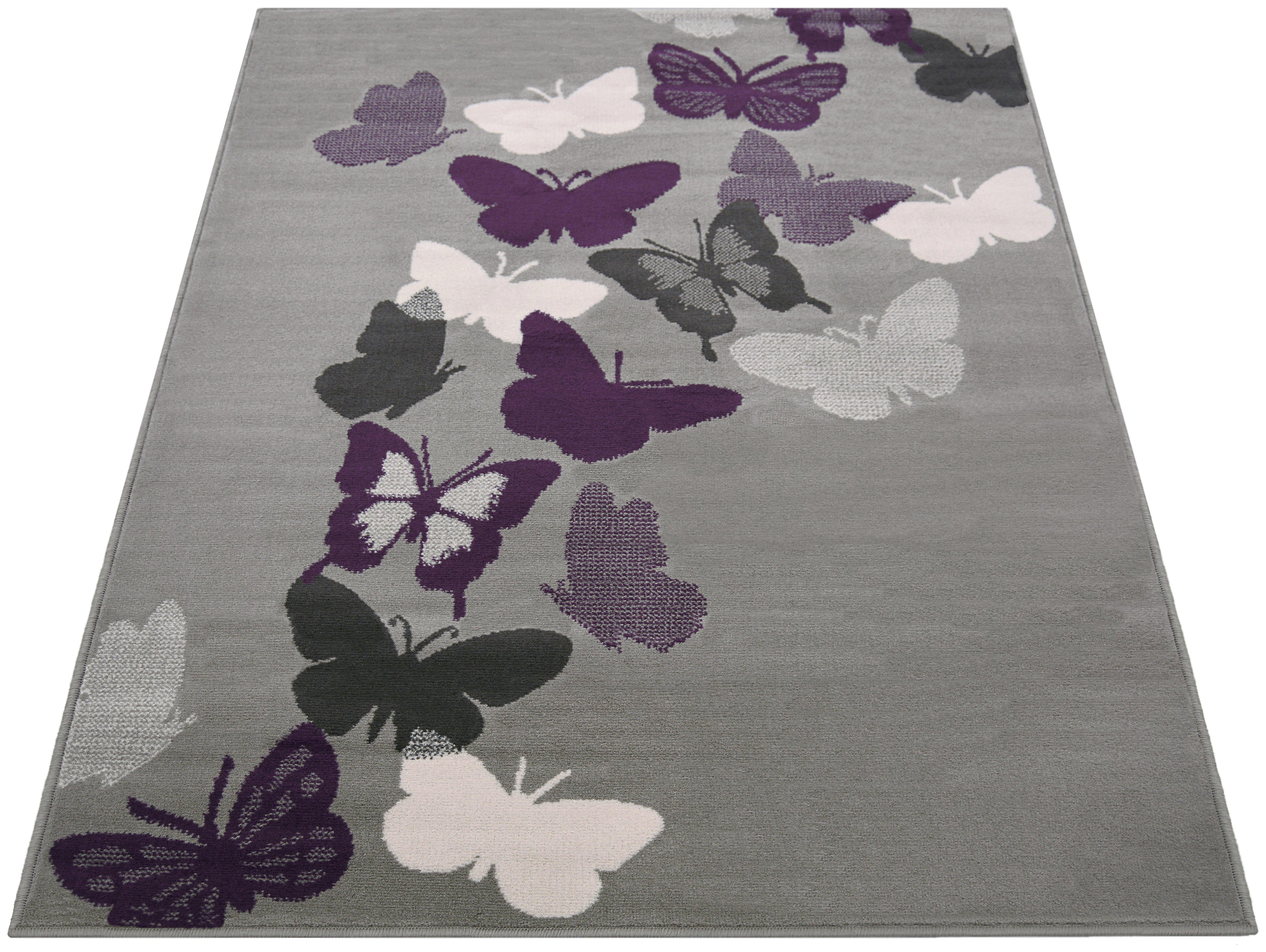 Butterflies Rug   80x150cm   Grey548/0704