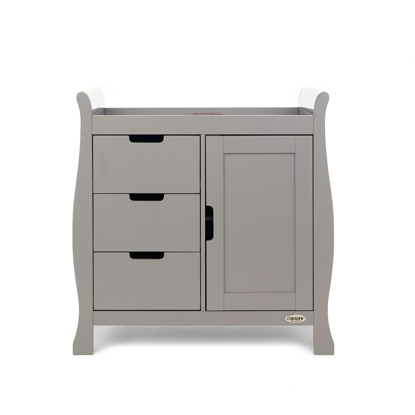 Obaby Stamford Sleigh Changing Unit - Taupe Grey
