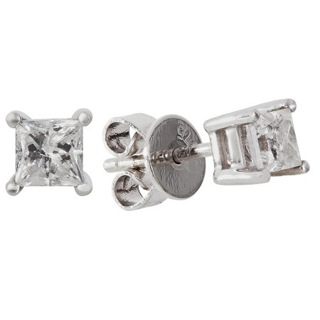 Revere 9ct White Gold 0.50ct tw Diamond Solitaire Earrings