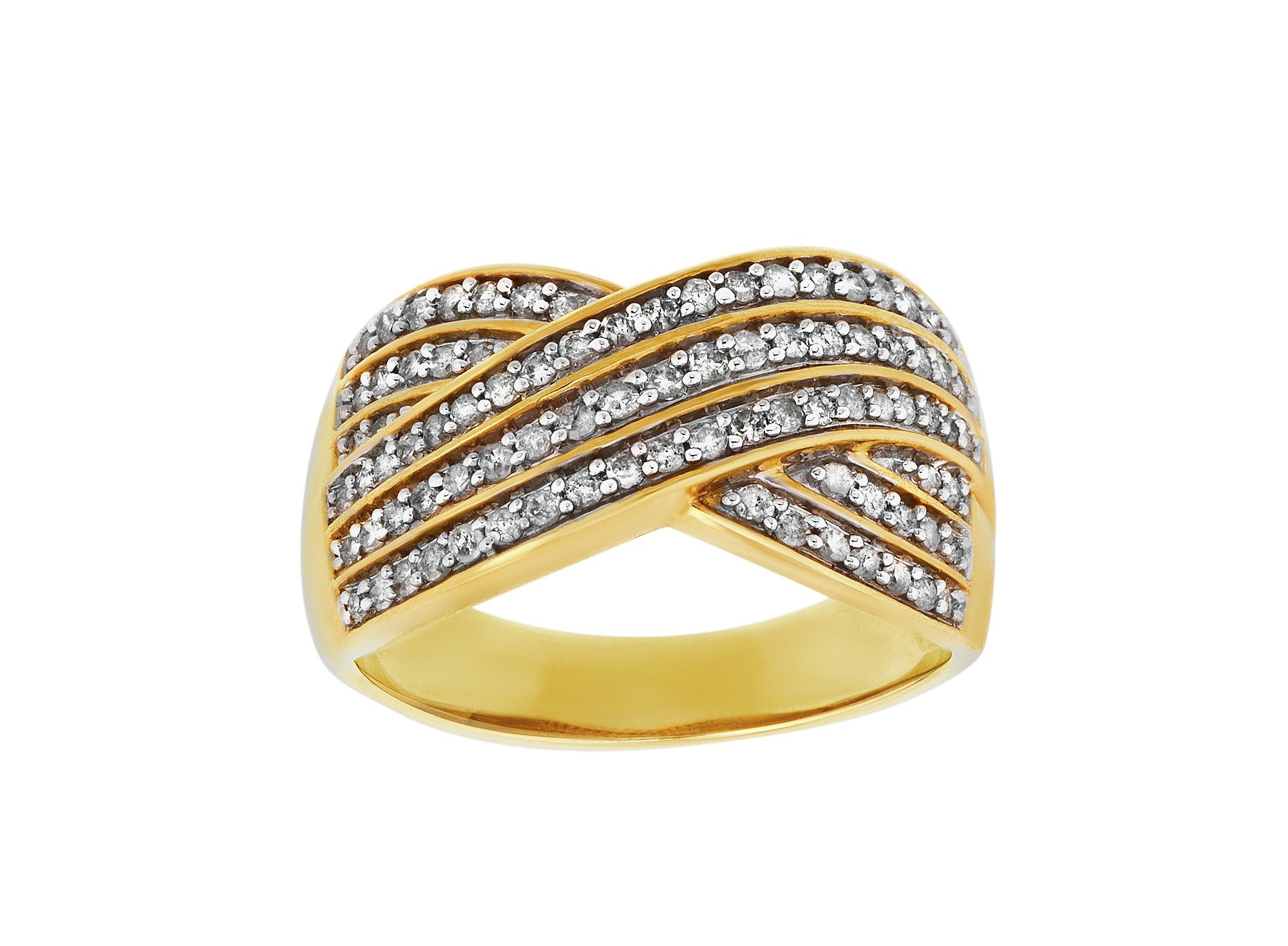 Buy 9ct Gold 0 50ct tw Diamond Cluster Ring at Argos Your