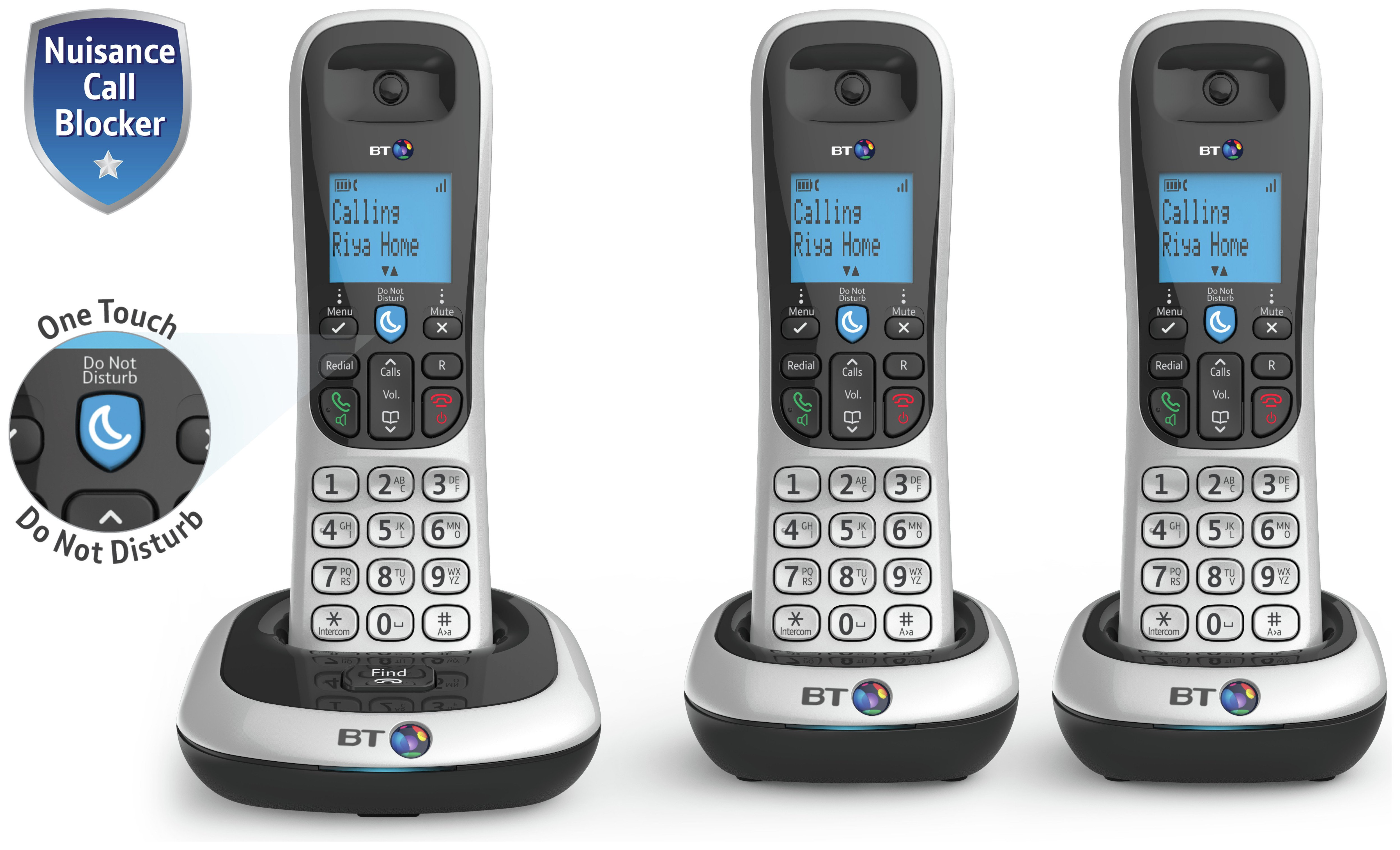 Image of BT - 2200 - Cordless Telephone - Triple