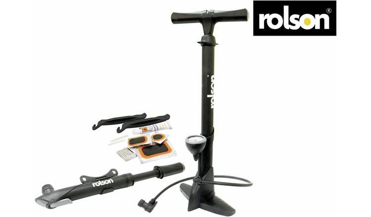 Rolson Track and Hand Bike Pump and Puncture Repair Kit