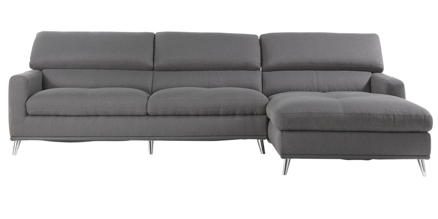 Buy Hygena Azores Fabric Right Hand Corner Sofa Charcoal at