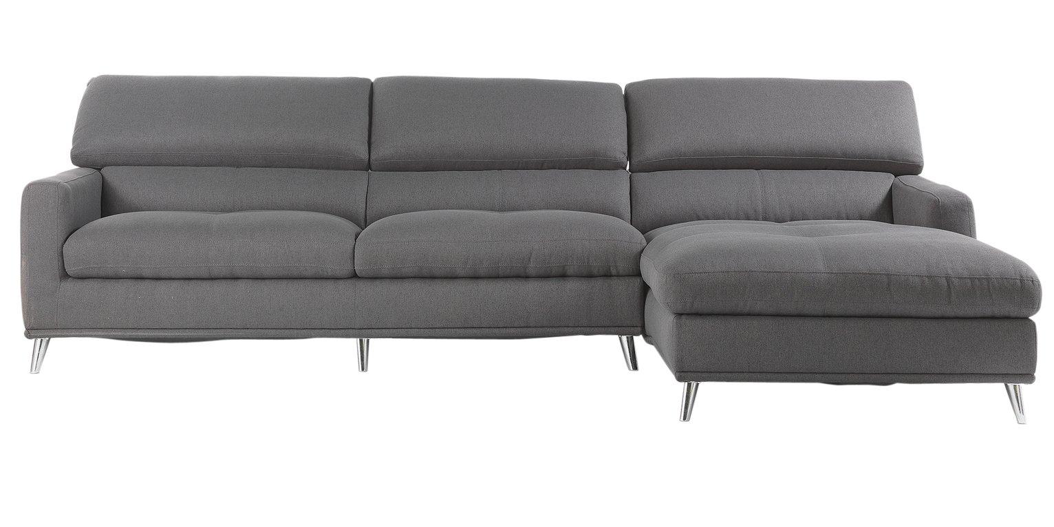 Buy Hygena Azores Fabric Right Hand Corner Sofa Charcoal at
