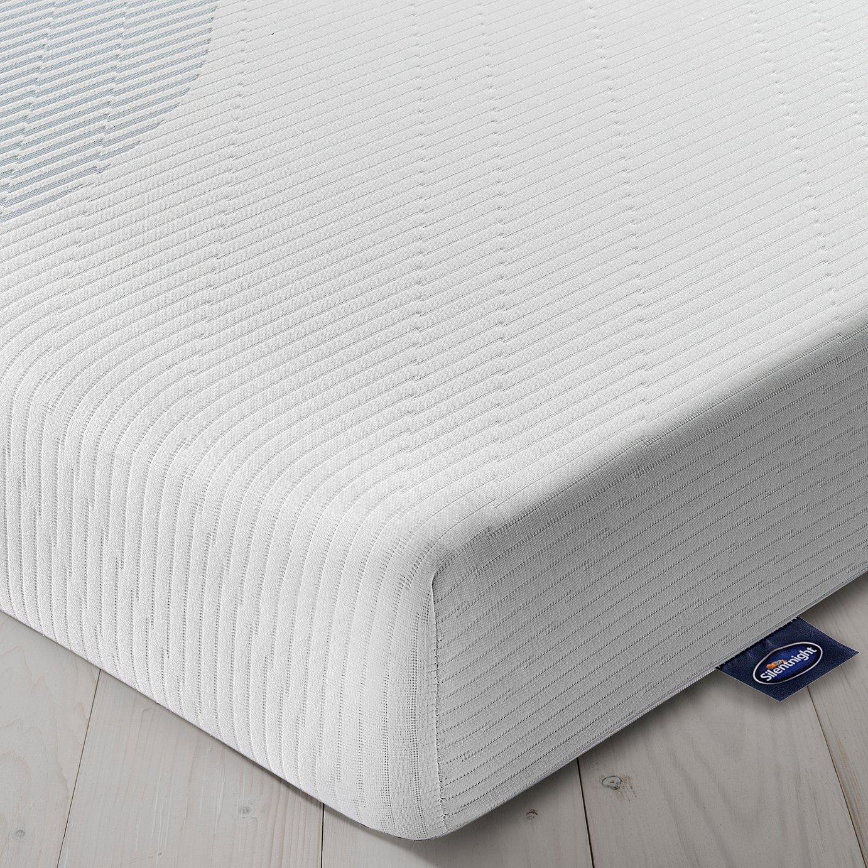 silentnight memory foam rolled single mattress