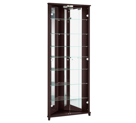 HOME Triangle 2 Door Corner Display Cabinet