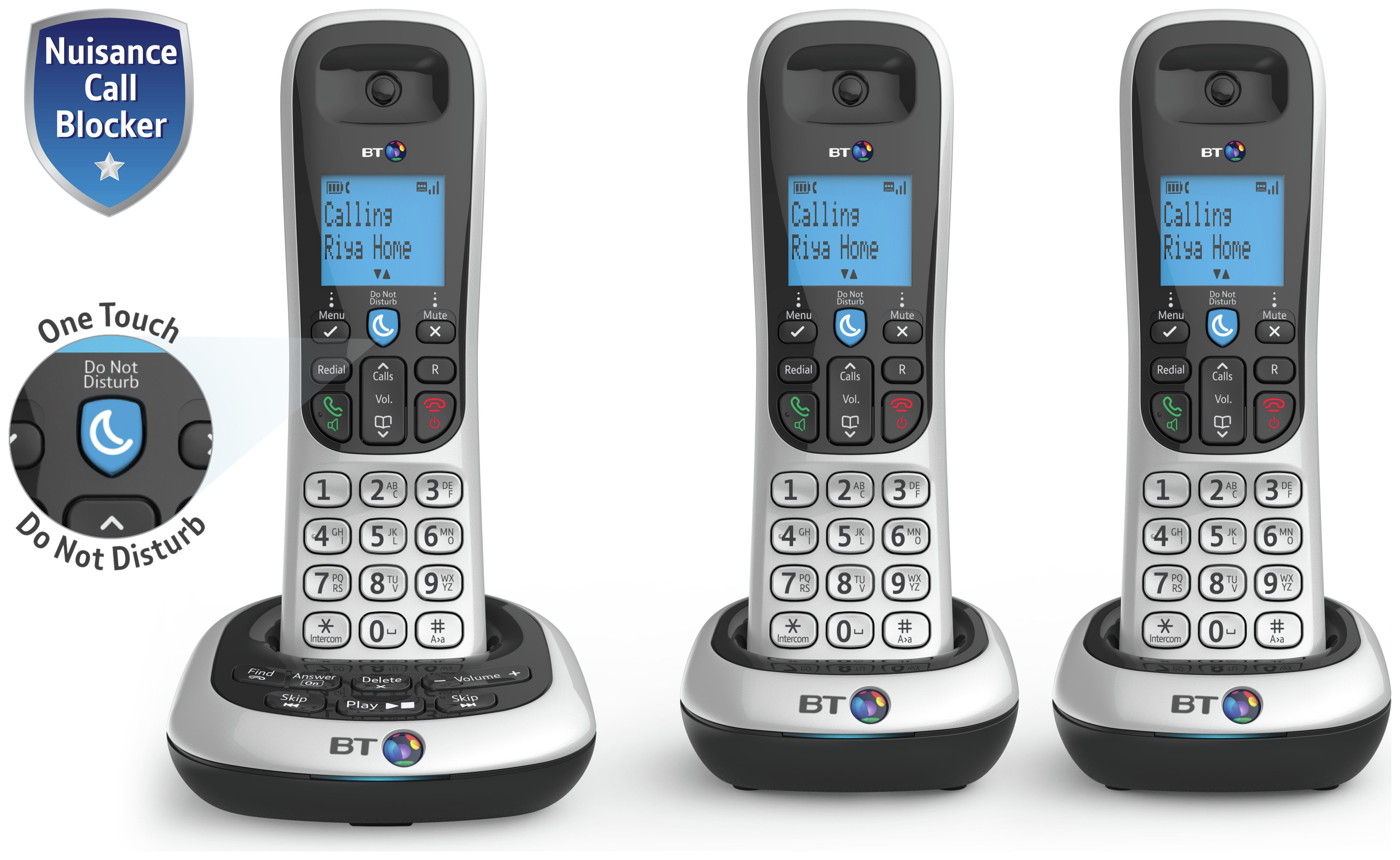 Image of BT - 2700 - Cordless Telephone & Answer Machine - Triple