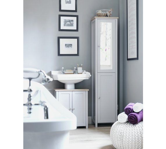 buy heart of house livingston mirror wall cabinet grey