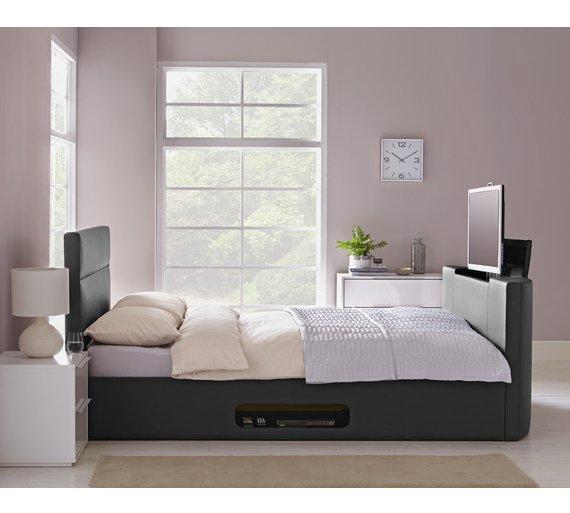 Buy Hygena Gemini Kingsize TV Bed Frame - Black | Bed frames | Argos