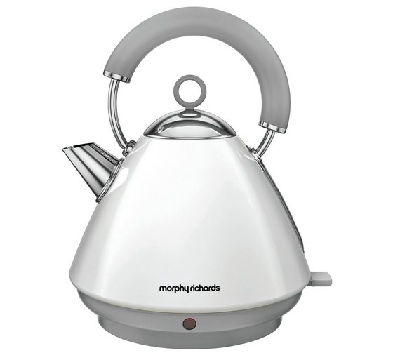 buy morphy richards 102031 accents pyramid kettle white. Black Bedroom Furniture Sets. Home Design Ideas