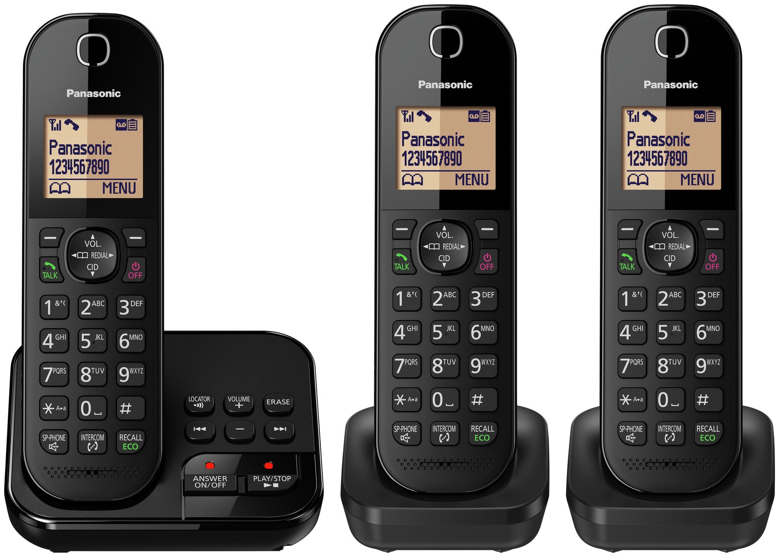 Panasonic Cordless Telephone with Answer Machine - Triple