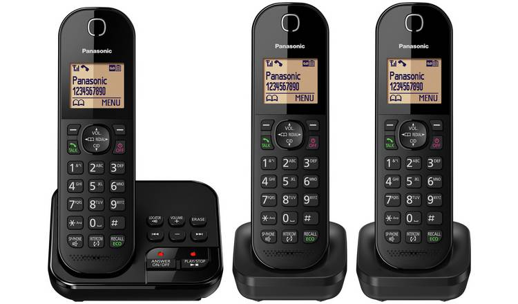 Panasonic Cordless Telephone with Answer Machine - Triple