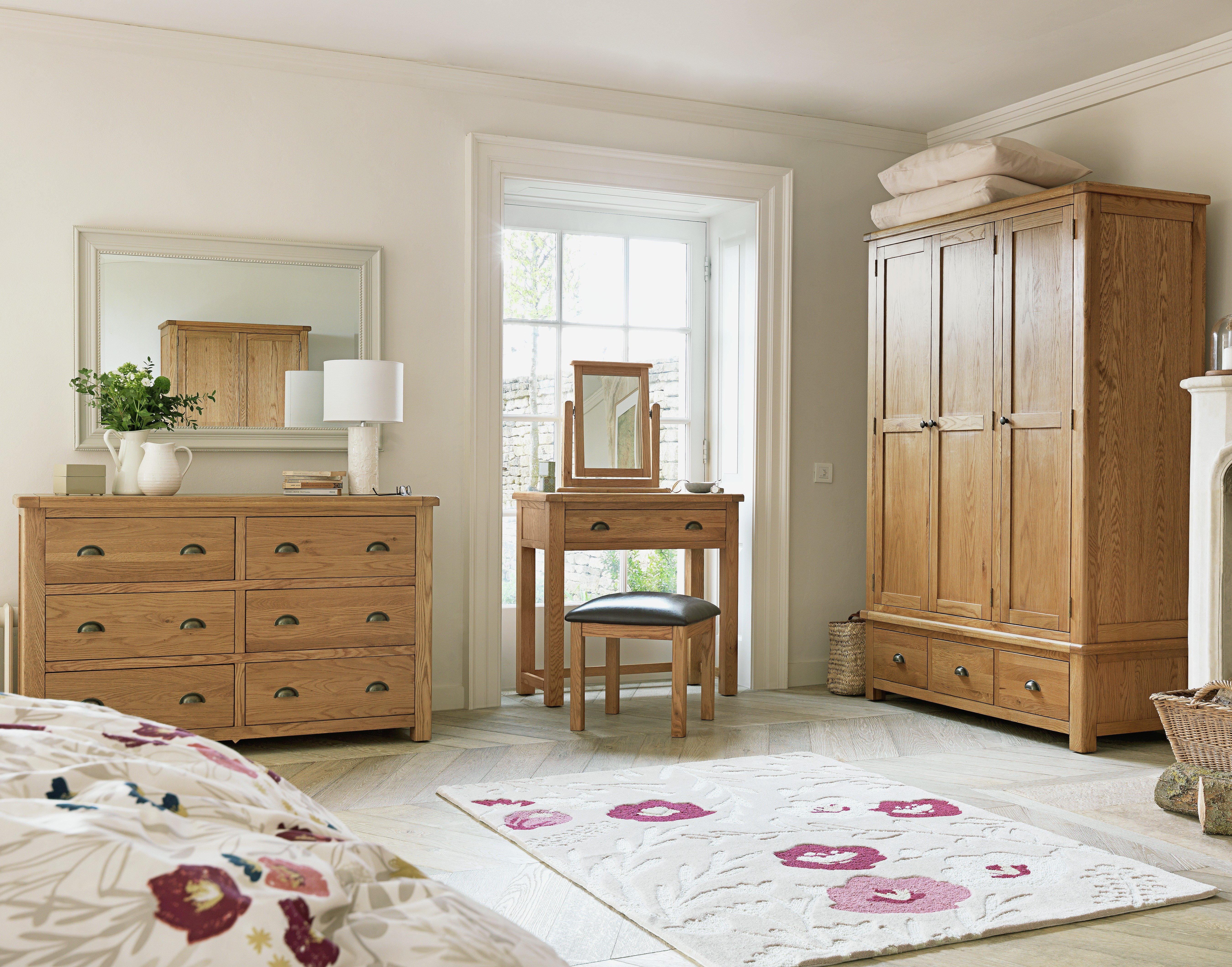 Argos Bedroom Furniture Fair Buy Heart Of House Kent 1Drw Dressing Table Stool Mirror  Oak . Design Inspiration