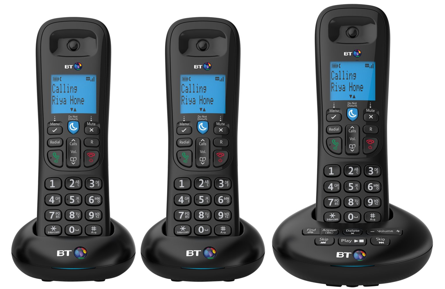 Image of BT 3570 Cordless Telephone with Answer Machine - Triple
