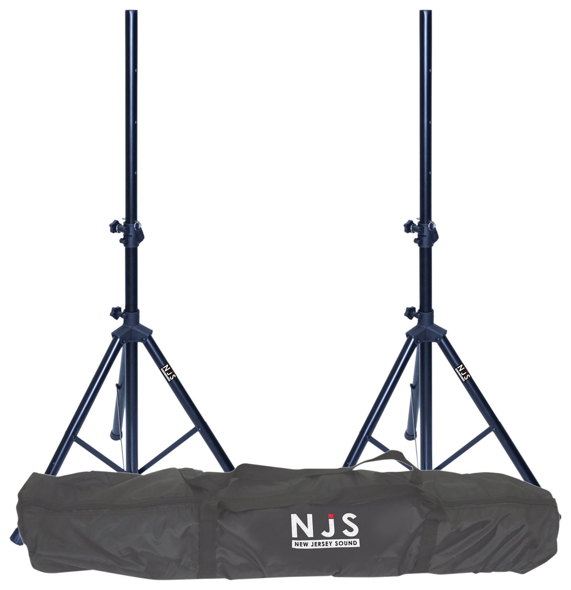 New Jersey Sound 2 Speaker Stands And Carry Bag Kit