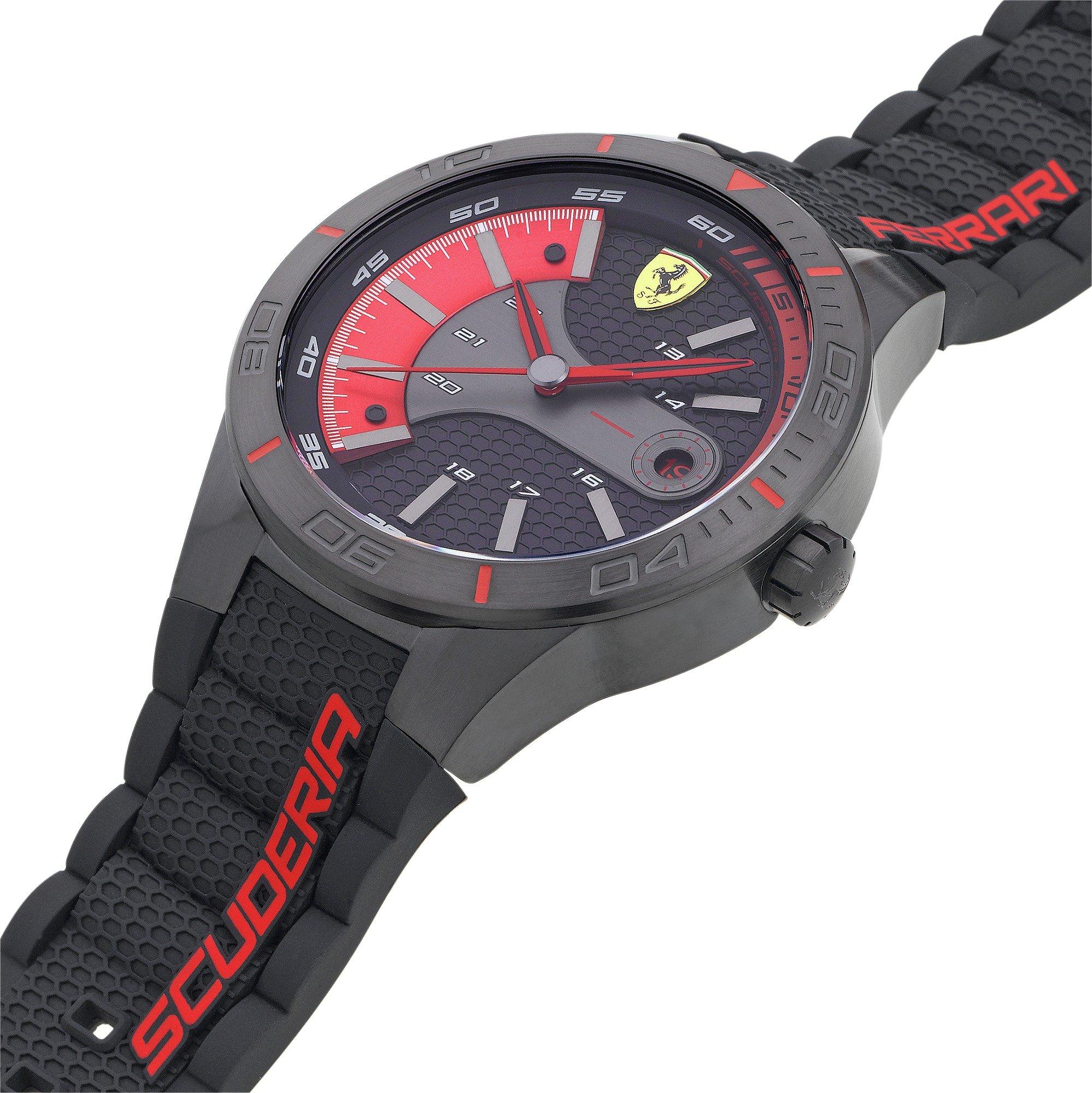 buy scuderia ferrari men's red rev evo strap watch at argos.co.uk