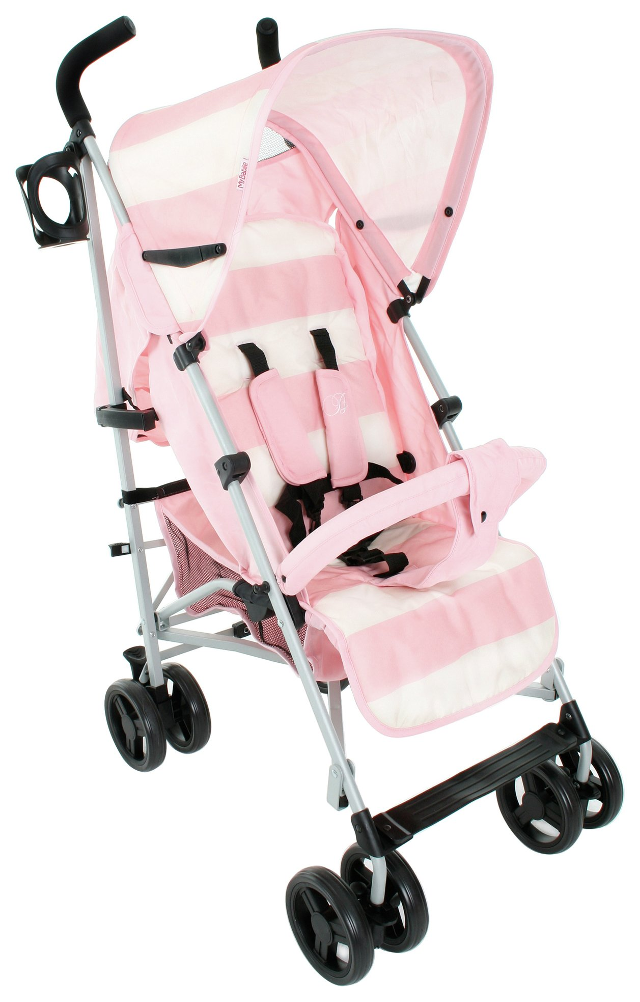 Image of Billie Faiers MB01 Pink Stripe Stroller.