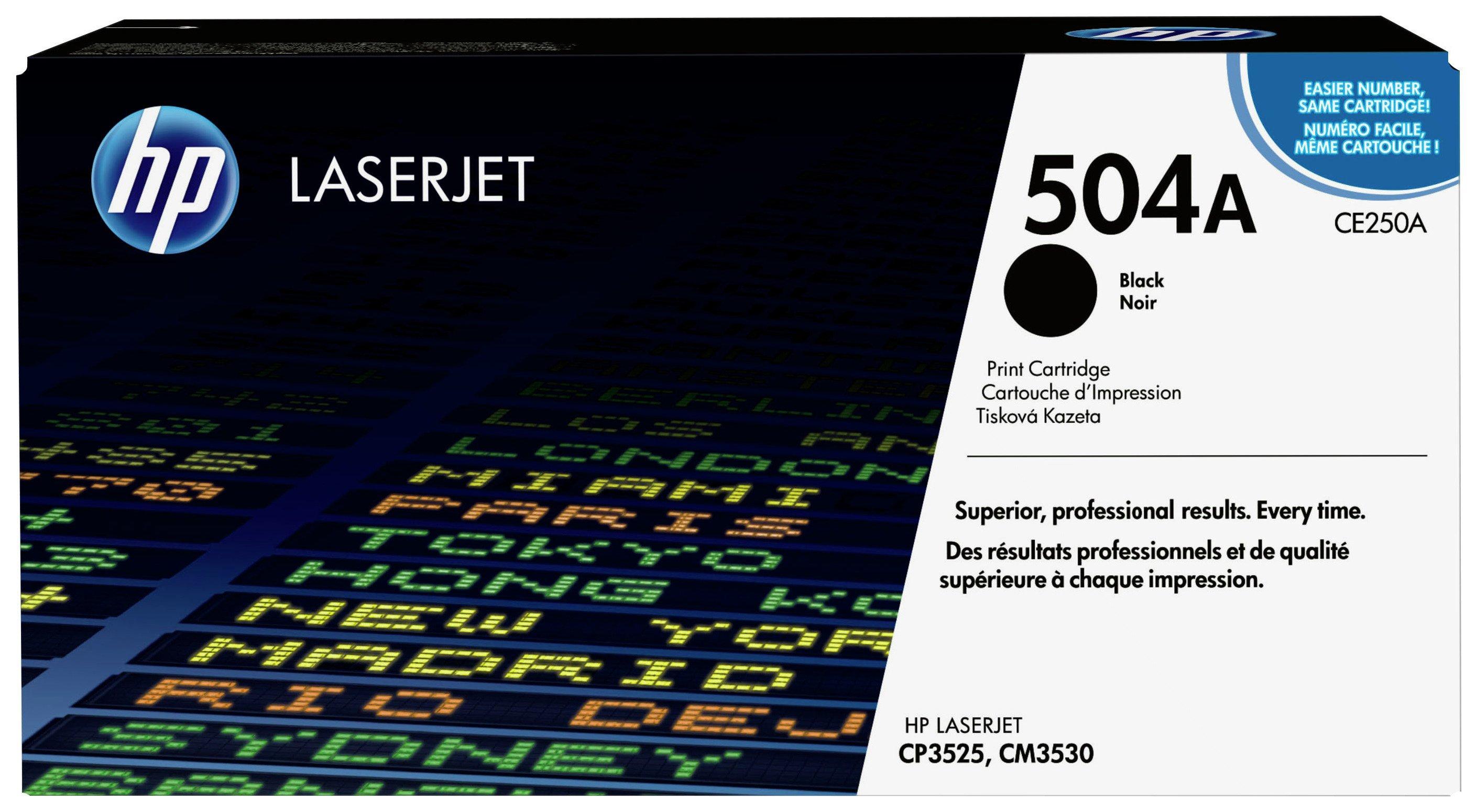 HP - 504A Black LaserJet - Toner Cartridge (CE250A)