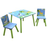 Liberty House Toys Safari Table with 2 Chairs Set.