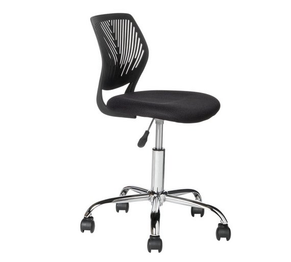 buy argos home black mesh gas lift adjustable office chair office