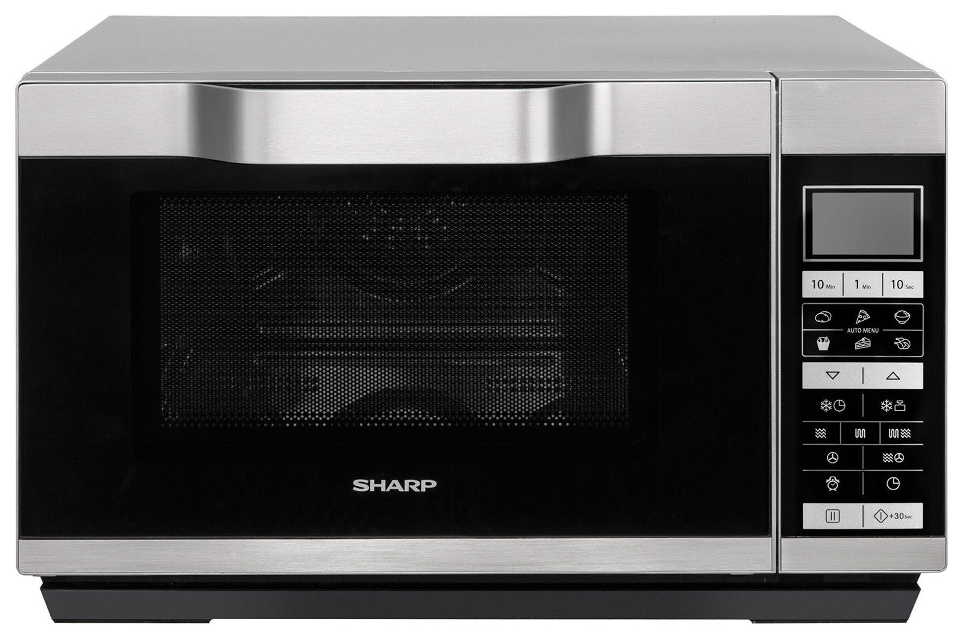 sharp r861. sharp 900w combination flatbed microwave r861 - silver argos